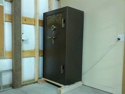 best place to put a gun safe